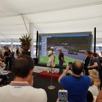 Siluetas en Formula 1 Grand Prix en Barcelona 2017